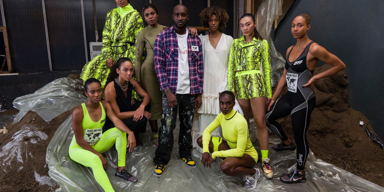 Caterine Ibargüen en la pasarela Off White y Nike