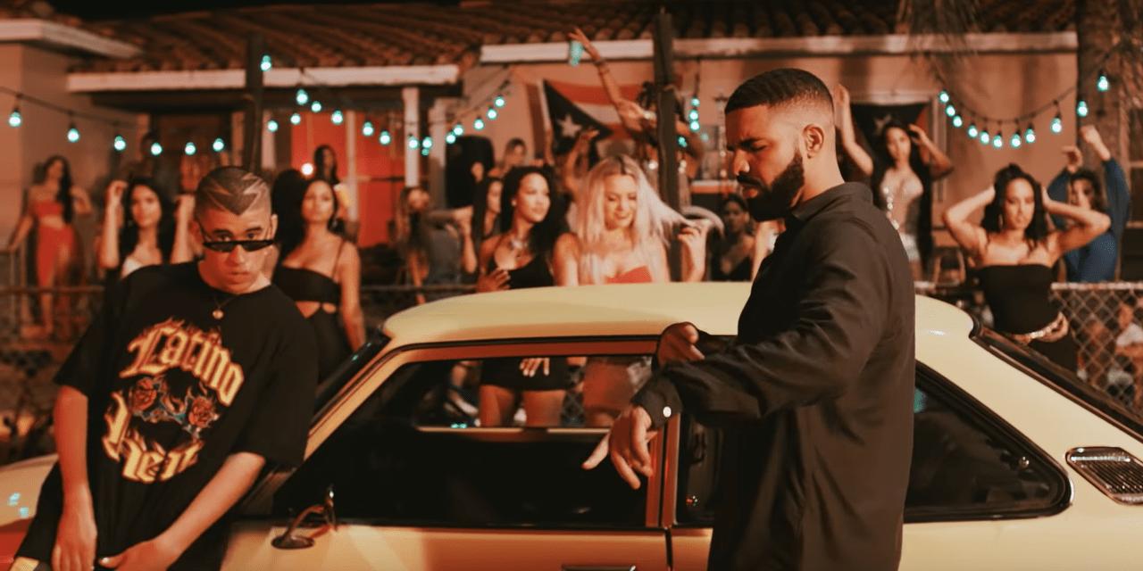 Drake y Bad Bunny juntos en español en «Mía»