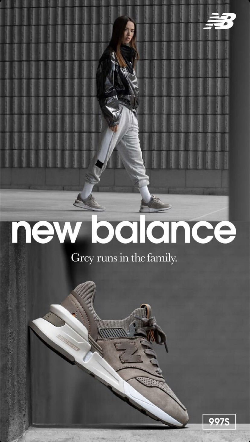 New Balance Grey Runs in The Family