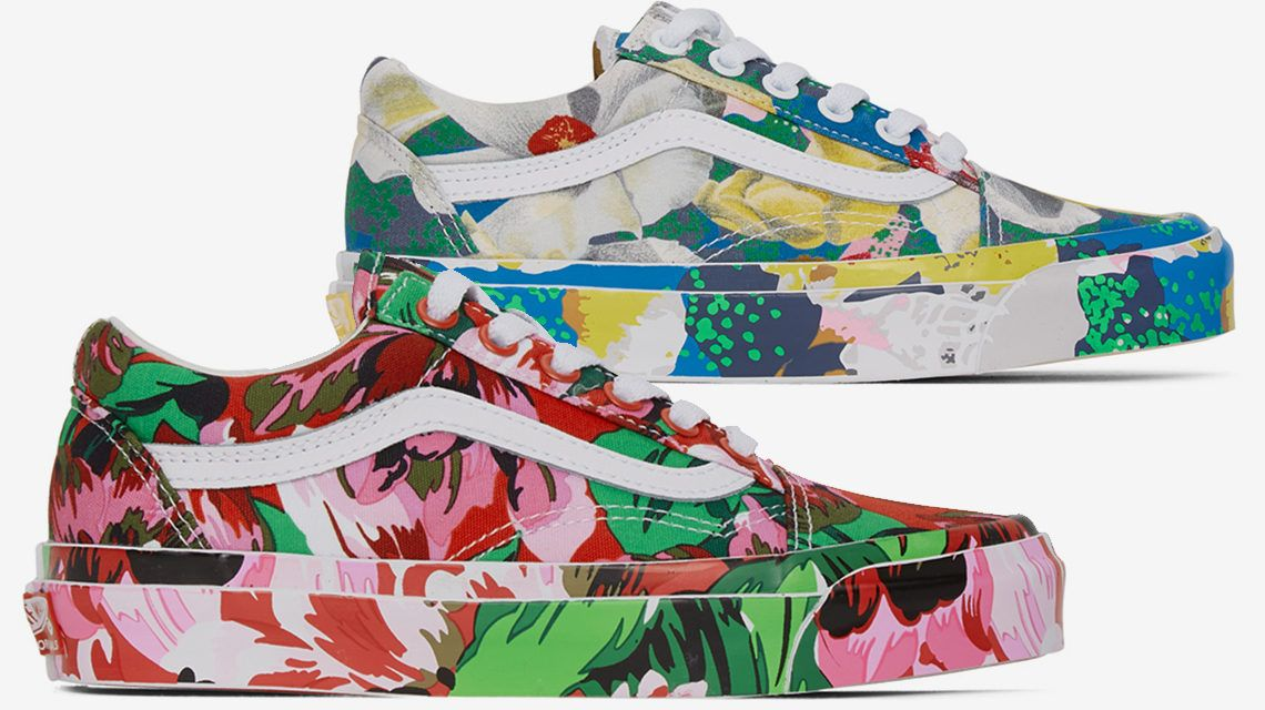 Colores y flores sobre los nuevos Kenzo x VANS