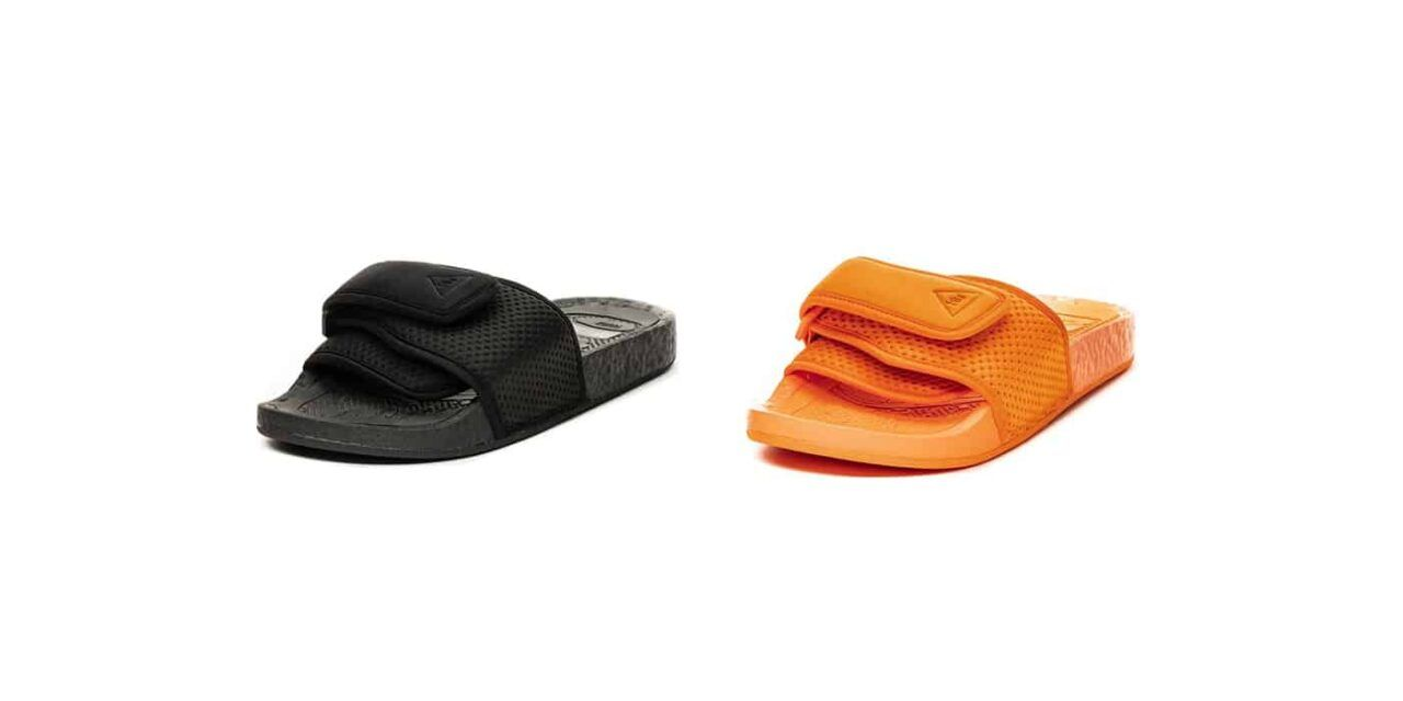 Pharrell Williams reinventa la adidas adilette con el estilo PW BOOST SLIDE