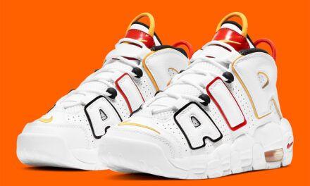 El pack «Raygun» de Nike incluye un Air More Uptempo